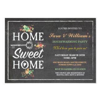 Nueva invitación casera del estreno de una casa