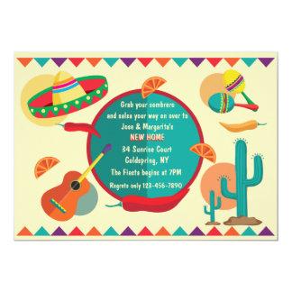 Nueva invitación casera del tema mexicano