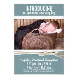 Nueva invitación del nacimiento del bebé de la invitación 8,9 x 12,7 cm