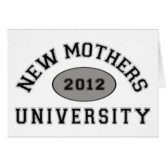 Nueva madre 2012 tarjeta de felicitación