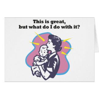 Nueva madre tarjeta de felicitación