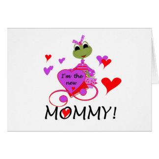 Nueva mamá de la rana tarjeta de felicitación