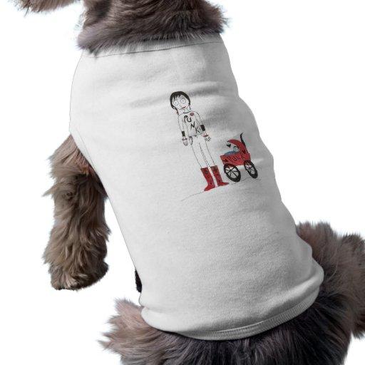 Nueva mamá espeluznante camiseta de perro