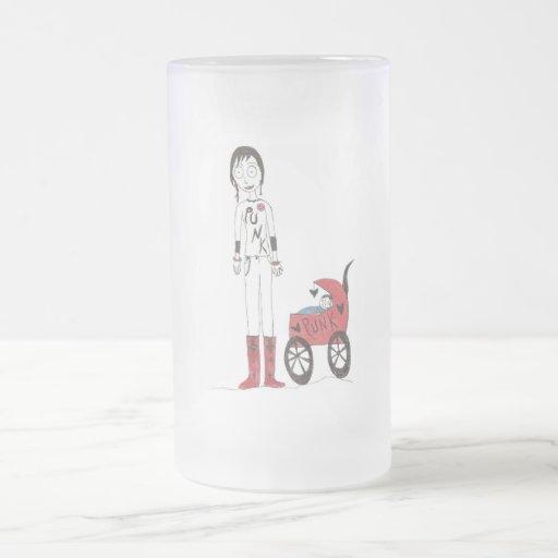 Nueva mamá espeluznante taza