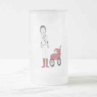 Nueva mamá espeluznante taza de cristal