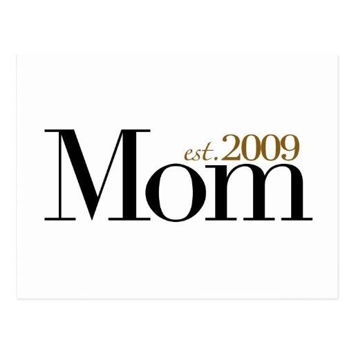 Nueva mamá Est 2009 Postales