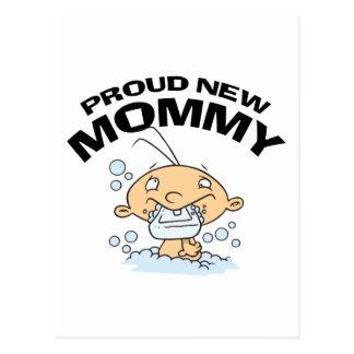 Nueva mamá orgullosa divertida tarjetas postales