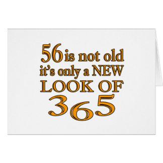 Nueva mirada 56 de tarjeta de felicitación