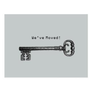 Nueva mudanza de la dirección de la llave maestra postal