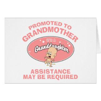 Nueva nieta de la nueva abuela divertida tarjetón