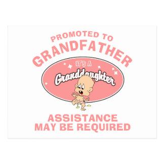 Nueva nieta promovida al abuelo postal