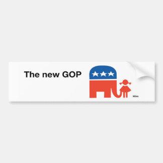 Nueva pegatina para el parachoques del logotipo