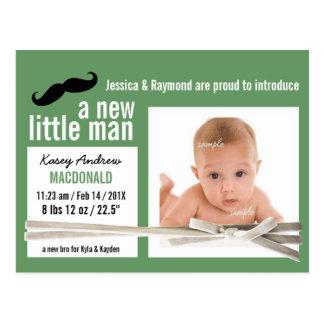 Nueva pequeña invitación del nacimiento de la foto postal
