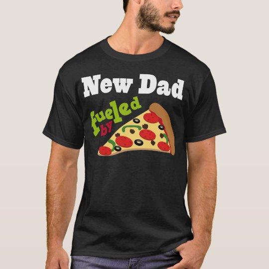 Nueva pizza (divertida) del papá camiseta