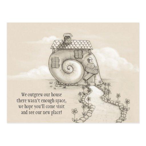 Nueva postal de la casa del caracol del arte de la