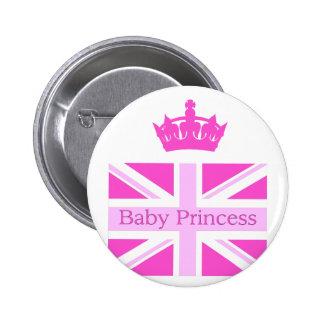 ¡Nueva princesa - bebé real! Chapa Redonda 5 Cm