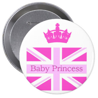 ¡Nueva princesa - bebé real! Chapa Redonda 10 Cm