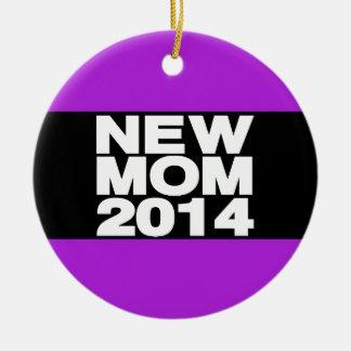 Nueva púrpura 2014 de LG de la mamá Adorno Redondo De Cerámica