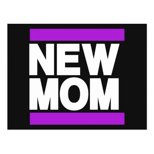 Nueva púrpura de la mamá tarjetas postales
