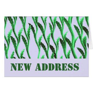 Nueva rama del verde de la dirección tarjeta de felicitación