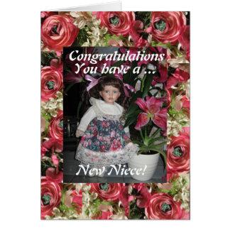 nueva sobrina tarjeta de felicitación