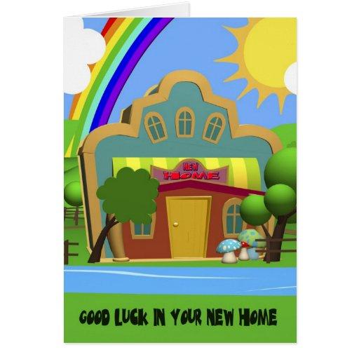 Nueva tarjeta casera de la casa del dibujo animado