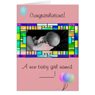 Nueva tarjeta de encargo de la enhorabuena de la