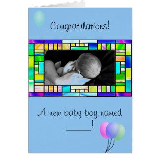 Nueva tarjeta de encargo de la enhorabuena del