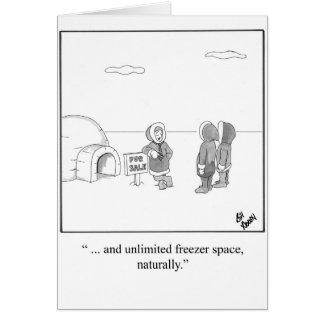 Nueva tarjeta de felicitación casera del humor de