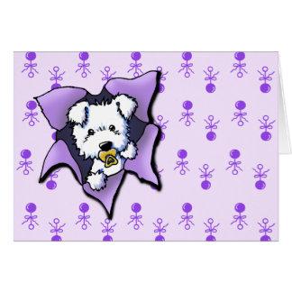 Nueva tarjeta de la enhorabuena del perrito