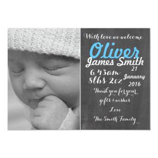 Nueva tarjeta de la invitación del nacimiento del