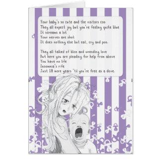 Nueva tarjeta de los azules de la madre