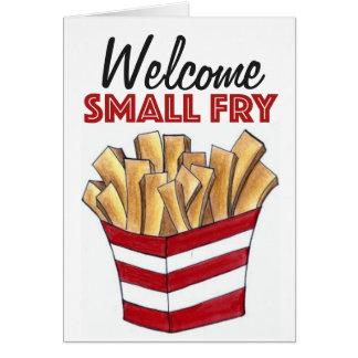 Nueva tarjeta del bebé de las patatas fritas