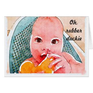 Nueva tarjeta del bebé - Duckie de goma