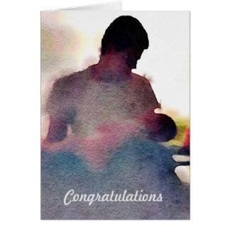 Nueva tarjeta del bebé - enhorabuena del papá tarjeta de felicitación