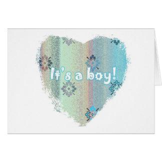 ¡Nueva tarjeta del bebé - es un muchacho!