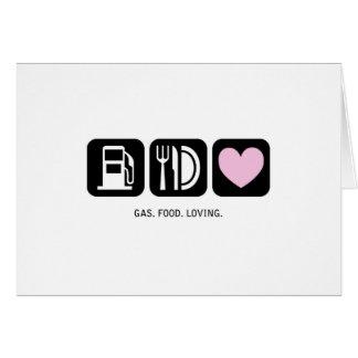 Nueva tarjeta del bebé: Gas-Comida-Cariñoso