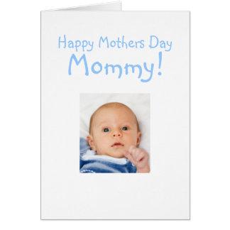 Nueva tarjeta del día de madres de la mamá del beb