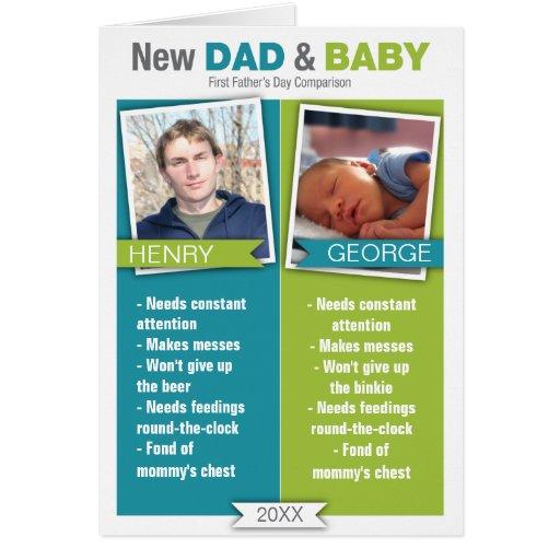 Nueva tarjeta del día de padre de la comparación d