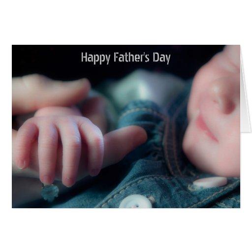 Nueva tarjeta del día de padre del bebé