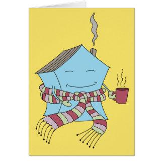 Nueva tarjeta del hogar/del estreno de una casa