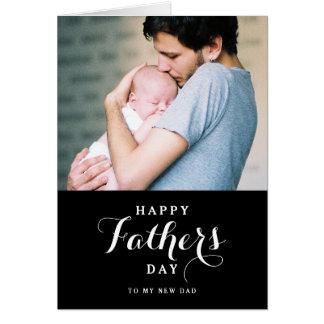 Nueva tarjeta feliz del día de padre del papá el |