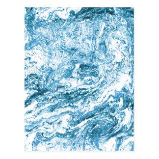 Nueva tarjeta Marbleized el | de la dirección azul Postal