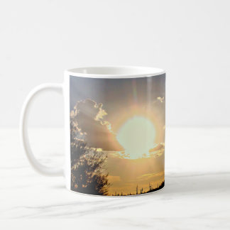 Nueva taza de café del ocaso del río/taza