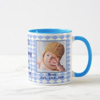 Nueva taza orgullosa de la foto del bebé de la
