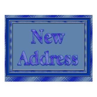Nueva tela escocesa del azul de la dirección postal