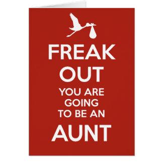 Nueva tía Pregnancy Announcement Tarjeta