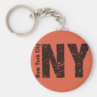 """Nueva York 2,25"""" llavero básico del botón"""