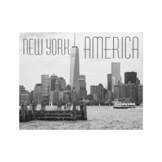 Nueva York América: Lona estirada Giclee Impresion En Lona