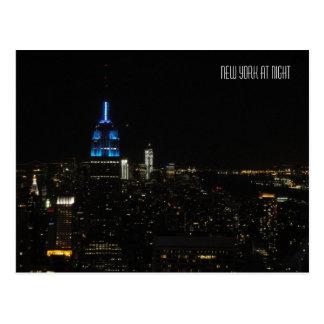 Nueva York en la noche Postal